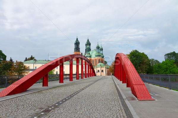 Ürdün köprü Polonya eski katedral kilise Stok fotoğraf © neirfy