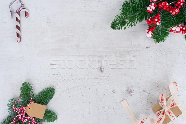 Christmas flat lay styled scene Stock photo © neirfy