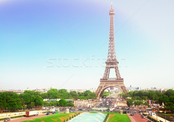 Eiffel Tower and Paris cityscape Stock photo © neirfy