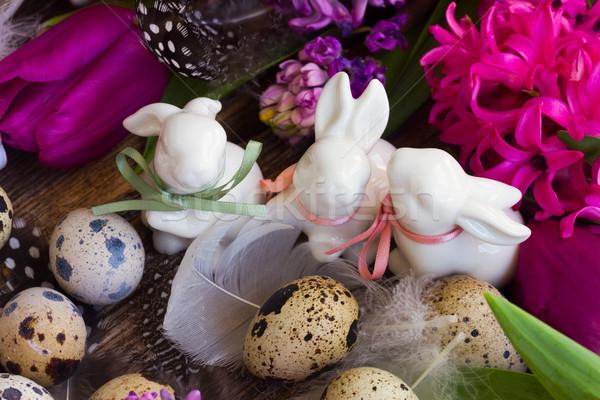 春の花 イースターエッグ 春 新鮮な 花 3 ストックフォト © neirfy