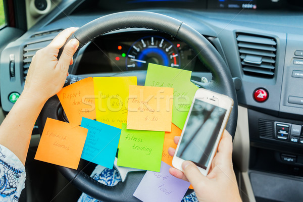 Stock photo: To do list in a car