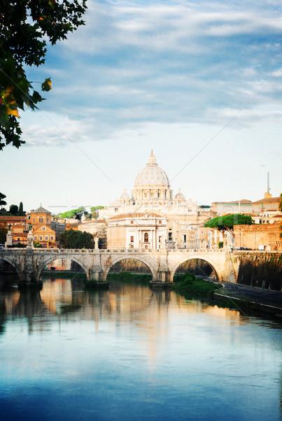 Cattedrale ponte fiume acqua Roma Italia Foto d'archivio © neirfy