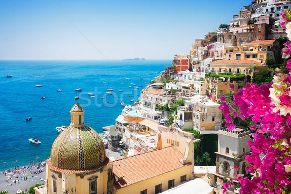 Foto stock: Resort · Italia · vista · flores · famoso · edad