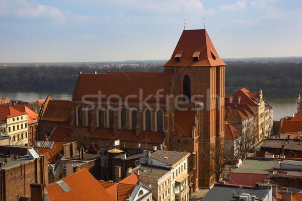 cathedral of st John, Torun, Poland Stock photo © neirfy
