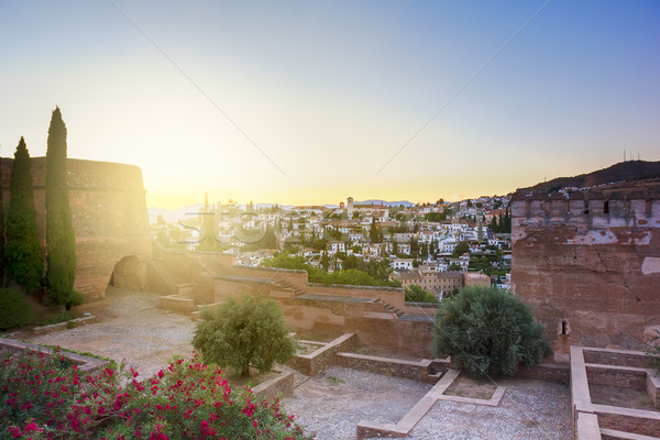 Granada at sunset, Spain Stock photo © neirfy