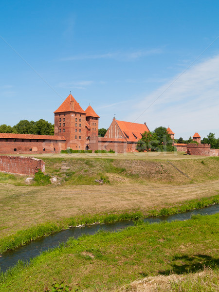 medieval castle in Malbork Stock photo © neirfy