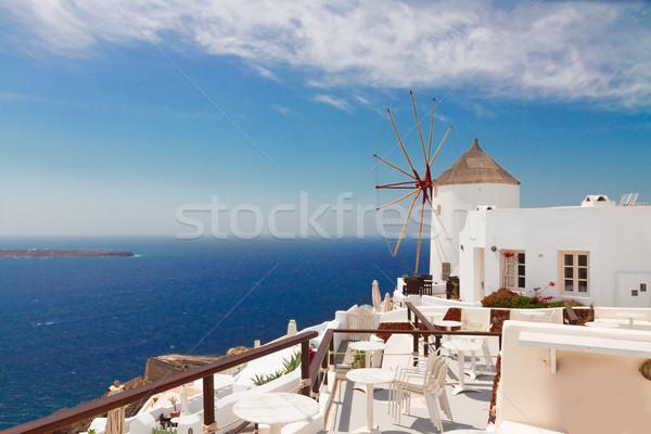 windmill of Oia, Santorini Stock photo © neirfy