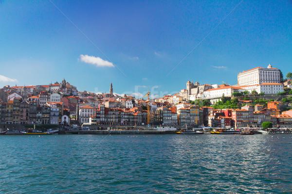 Heuvel oude binnenstad Portugal skyline erfgoed Stockfoto © neirfy