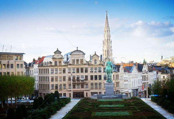 Bruxelles cityscape arti Belgio cielo costruzione Foto d'archivio © neirfy