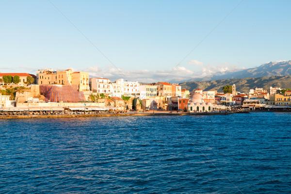 Venetian Grecia port cer Imagine de stoc © neirfy