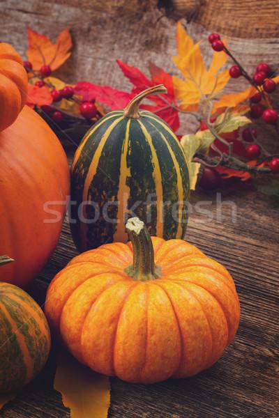 Kabak tablo turuncu yeşil Stok fotoğraf © neirfy