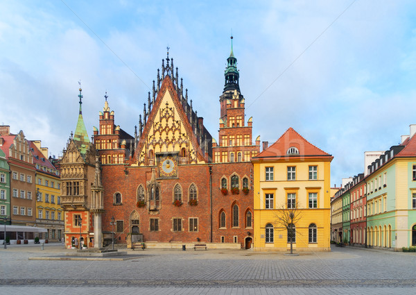 ратуша Польша старые Готский здании город Сток-фото © neirfy
