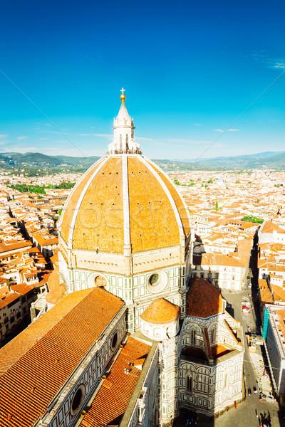 cathedral church Santa Mariea del Fiore, Florence, Italy Stock photo © neirfy
