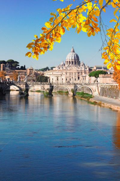 Catedral puente río agua Roma Italia Foto stock © neirfy