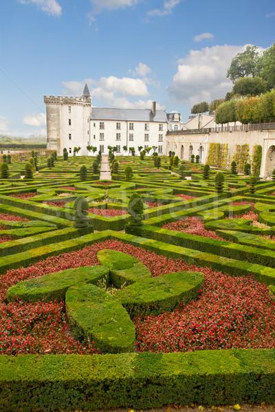 Villandry chateau, France Stock photo © neirfy