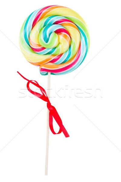 スパイラル キャンディー 開く キャンディ 孤立した 白 ストックフォト © neirfy