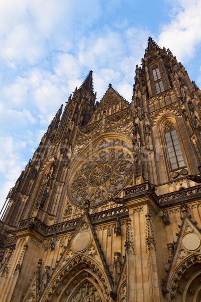 facade of  Vitus cathedral, Prague Stock photo © neirfy