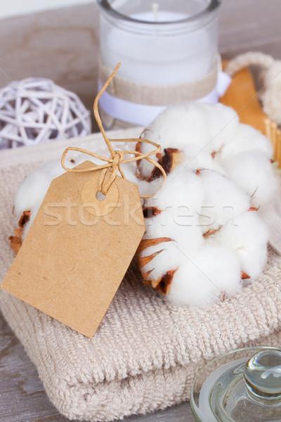Pamuk spa boş kâğıt dikkat doğa Stok fotoğraf © neirfy