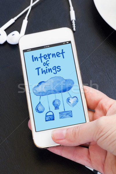 phone with internet of things icons Stock photo © neirfy