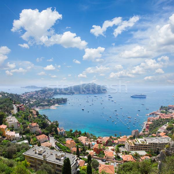 Francia costa agua cielo azul verano día Foto stock © neirfy