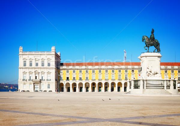 コマース 広場 リスボン ポルトガル レトロな ストックフォト © neirfy