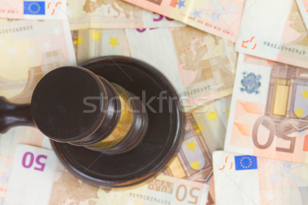 Law Gavel and Euro Money Stock photo © neirfy