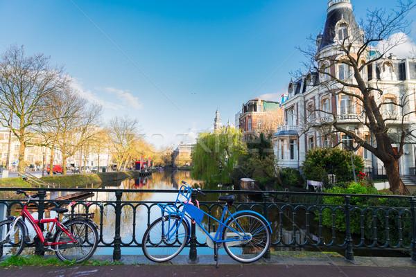 Bir Amsterdam romantik manzara Hollanda Stok fotoğraf © neirfy