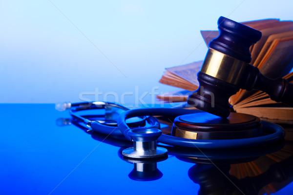 Mão lei gabela estetoscópio Foto stock © neirfy