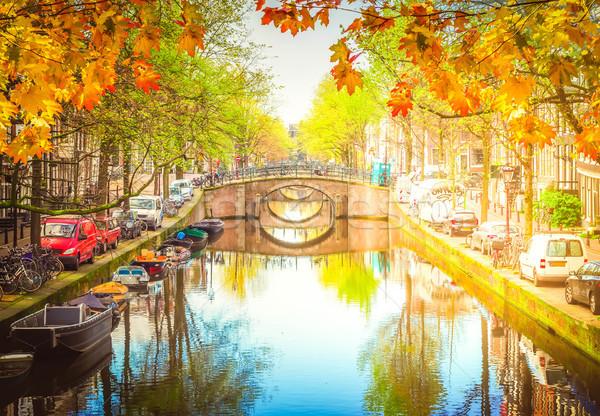 Ponte Holanda pontes canal espelho Foto stock © neirfy