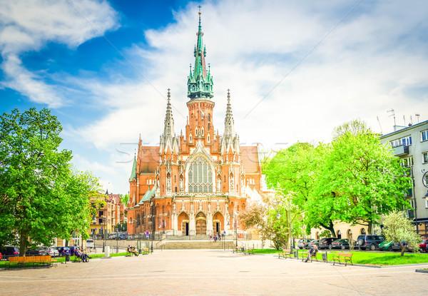 St. Joseph's Church, Podgorze in Krakow Stock photo © neirfy