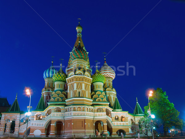 Temple of Basil the Blessed, Moscow, Russia Stock photo © neirfy