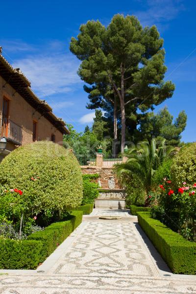 Gardens of Alhambra, Granada, Spain Stock photo © neirfy