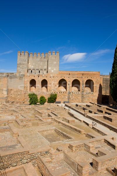 Alhambra Spanyolország citadella fa kert zöld Stock fotó © neirfy