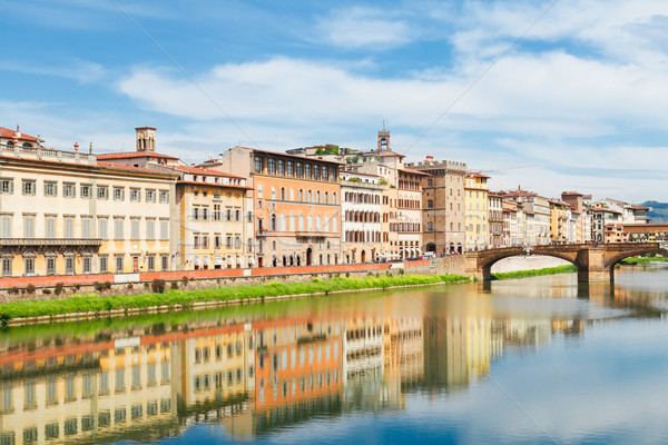 old town and river Arno, Florence, Italy Stock photo © neirfy