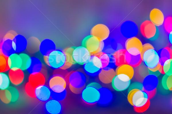 ストックフォト: クリスマス · ライト · ぼけ味 · 木材 · デザイン