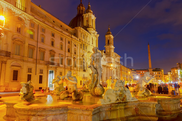 Piazza Navona, Rome, Italy Stock photo © neirfy