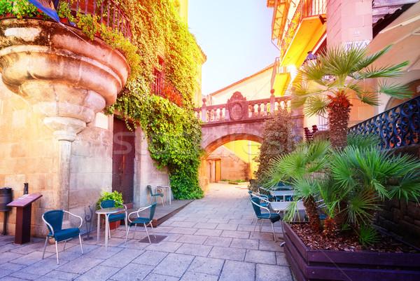 Luz del sol tradicional arquitectura moda verano Foto stock © neirfy