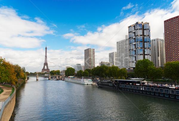 Eiffel wycieczka Paryż Wieża Eiffla domów Francja Zdjęcia stock © neirfy