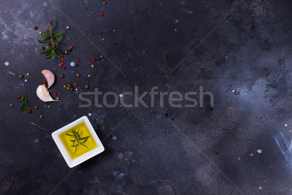 Food background with spices Stock photo © neirfy