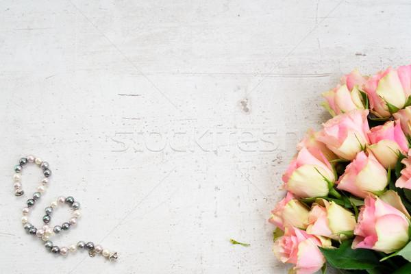 Stok fotoğraf: çiçekler · pembe · taze · gül