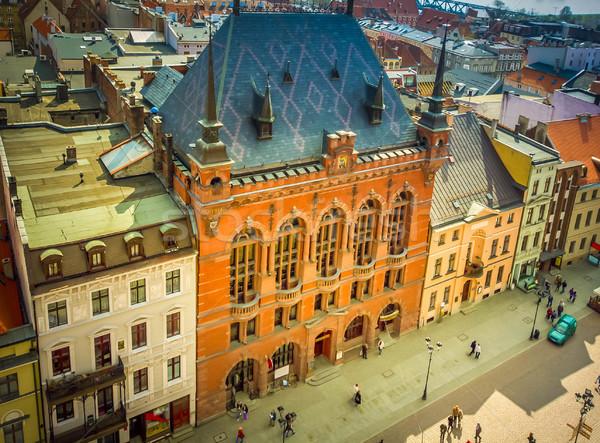 Stock fotó: óváros · Lengyelország · történelmi · épületek · tetők · középkori