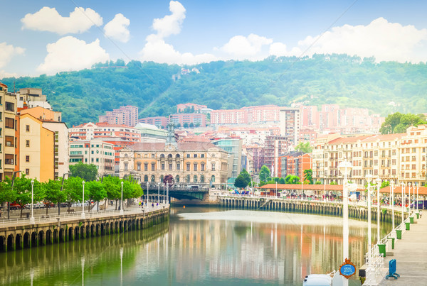 old town of Bilbao, Spain Stock photo © neirfy