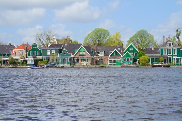 Zaandijk waterfront, Holland Stock photo © neirfy