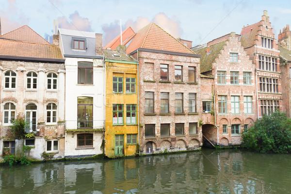 Сток-фото: исторический · зданий · канал · внешний · старые · небе