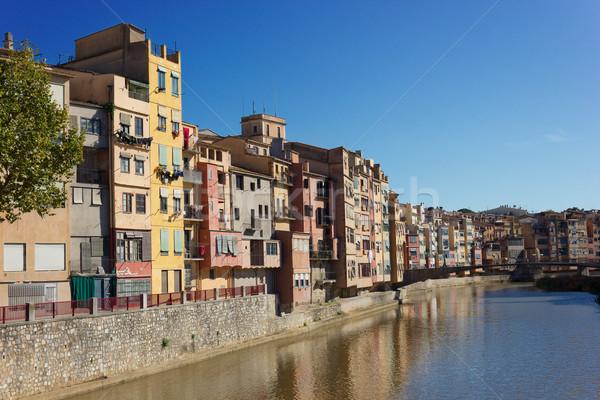 İspanya nehir Bina köprü kentsel Stok fotoğraf © neirfy