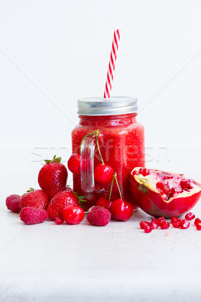 Fresh smoothy red drink Stock photo © neirfy