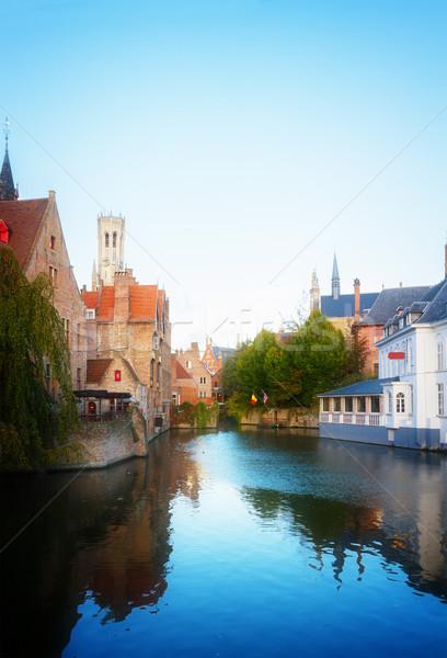 мнение средневековых классический башни Бельгия ретро Сток-фото © neirfy