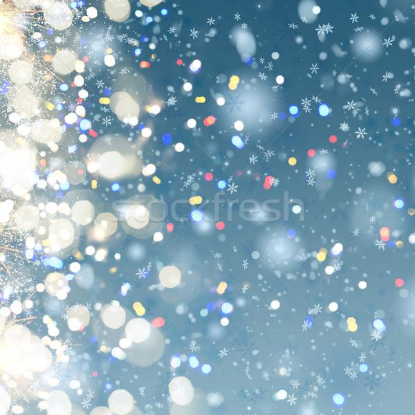 christmas snow background Stock photo © neirfy
