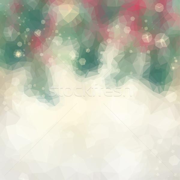 chrismas background with sparkles Stock photo © neirfy