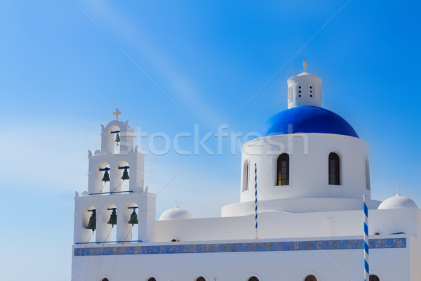 Ortodoxo iglesia santorini cúpula cielo ciudad Foto stock © neirfy